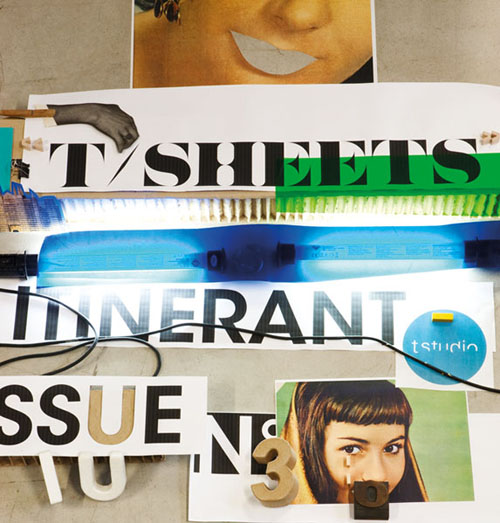 "Cover T/SHEETS ""the ITINERANT issue"""